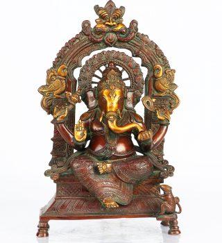 vintage_brass_ganesha_statue